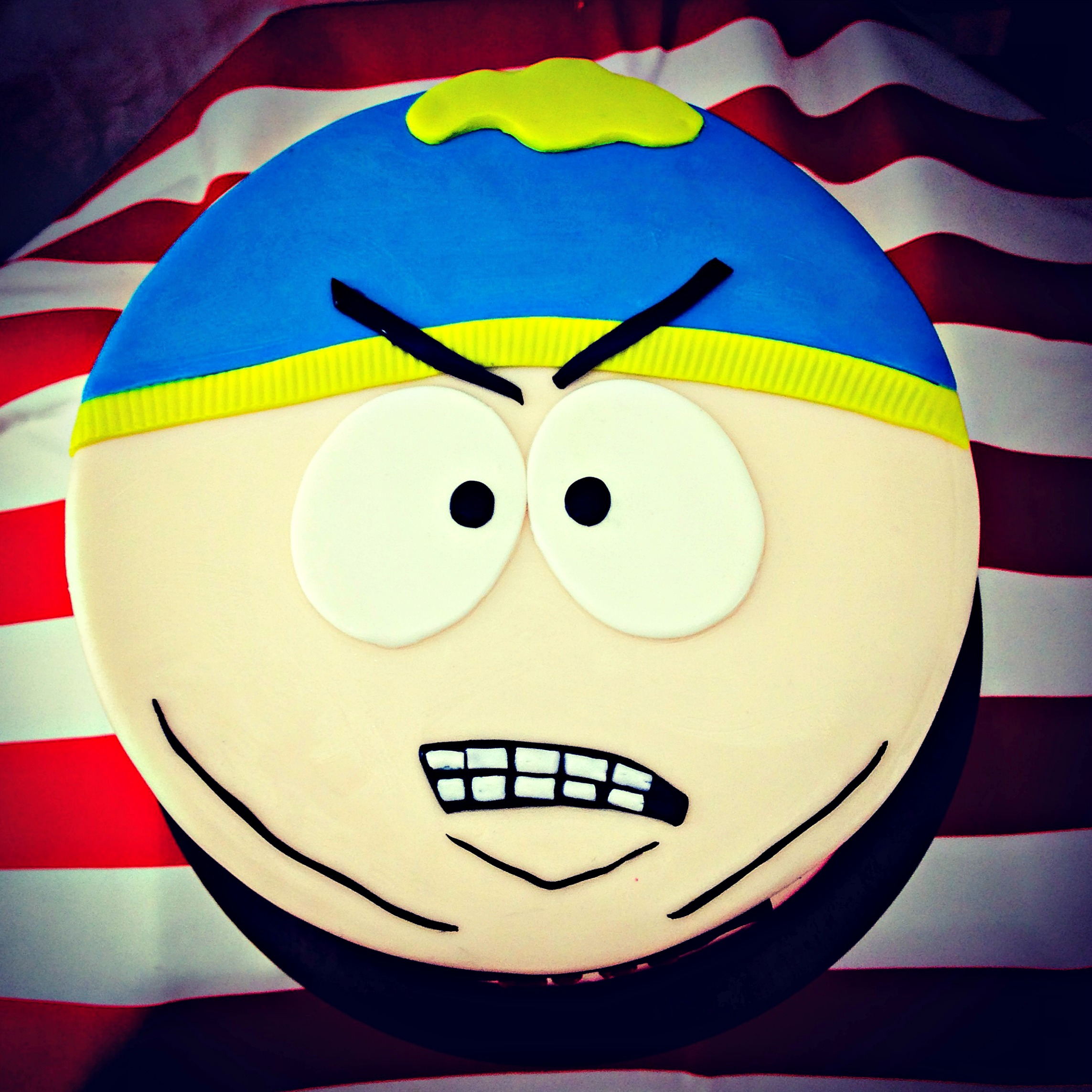 South Park Cartman Cake top view.JPG