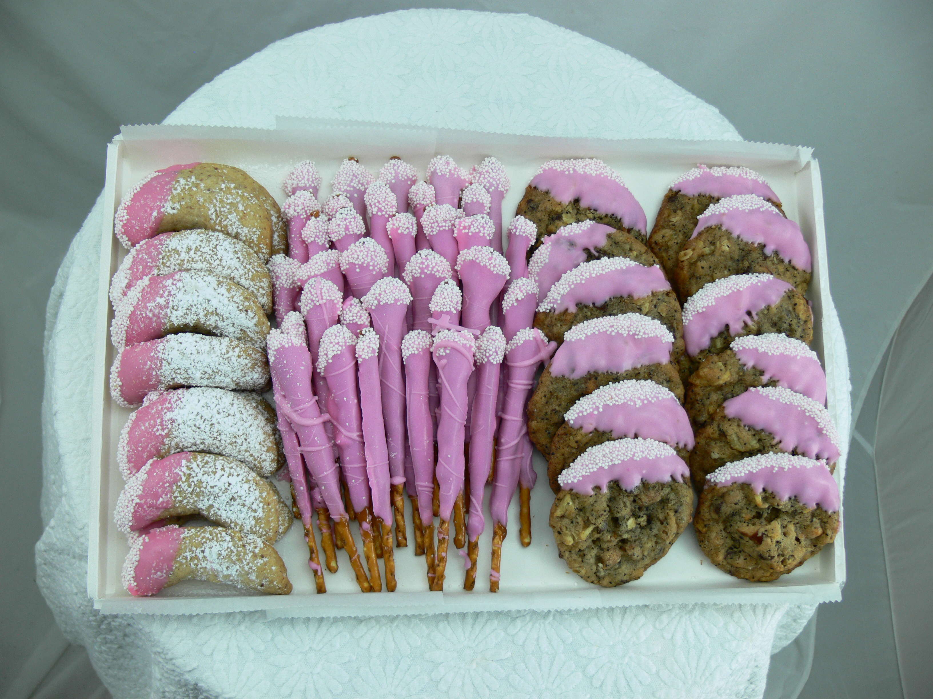 Pink Communion Cookie and Pretzel Tray.jpg