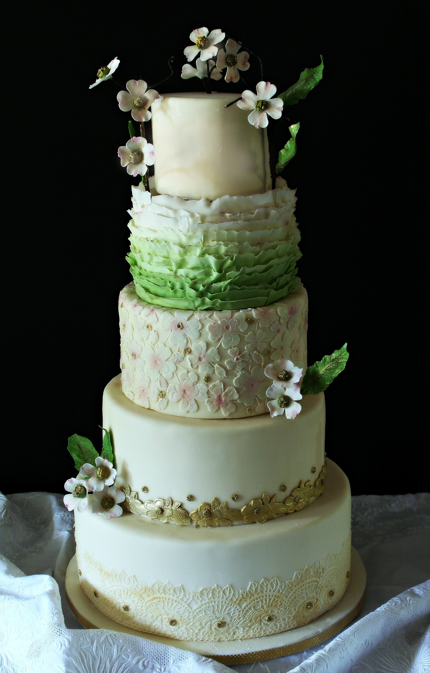 dogwood 5 tier wedding cake green pink gold edit.jpg