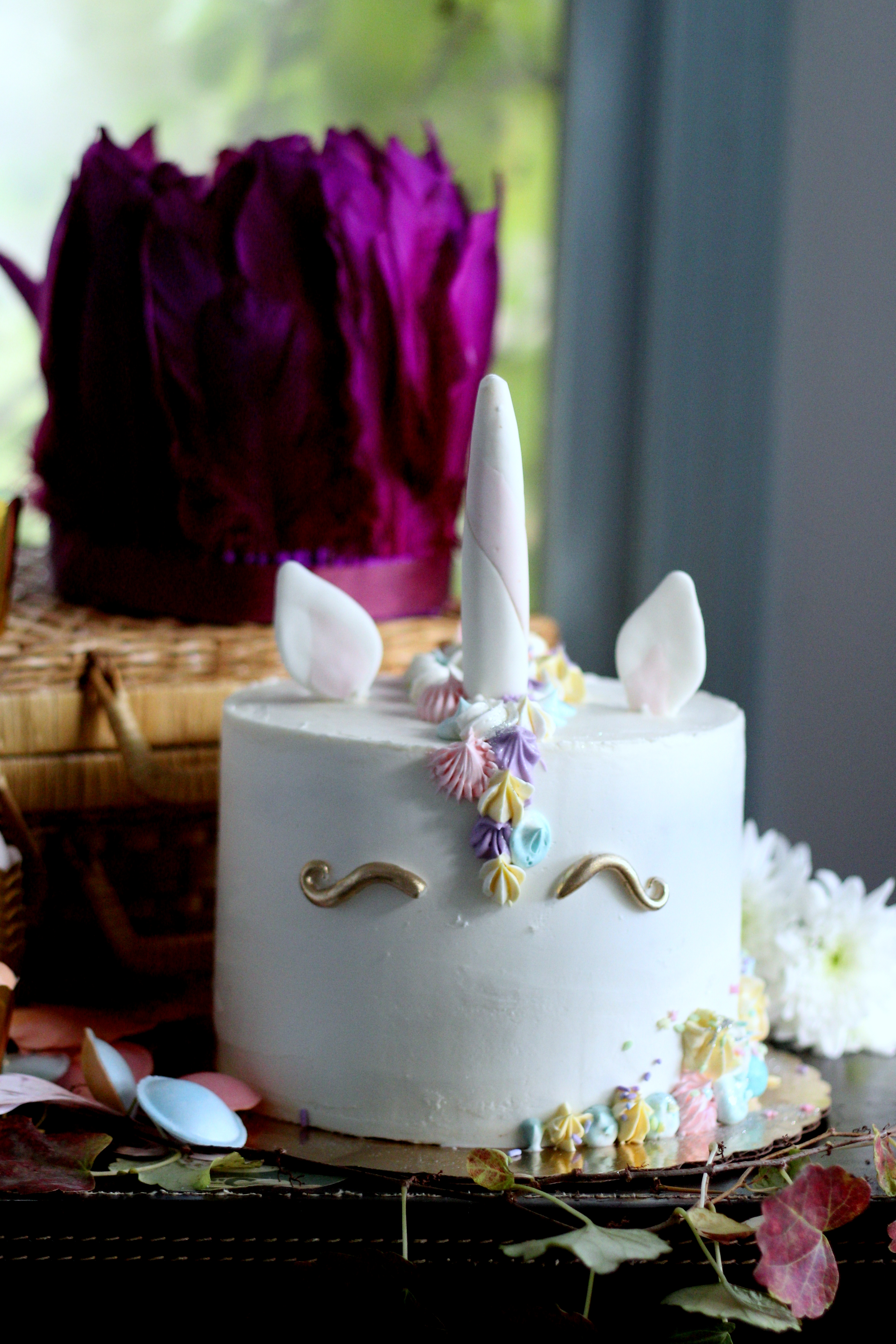 boho birthday unicorn cake