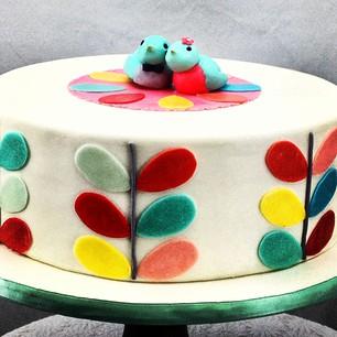 instragram of orla kiely lovebirds cake.jpg