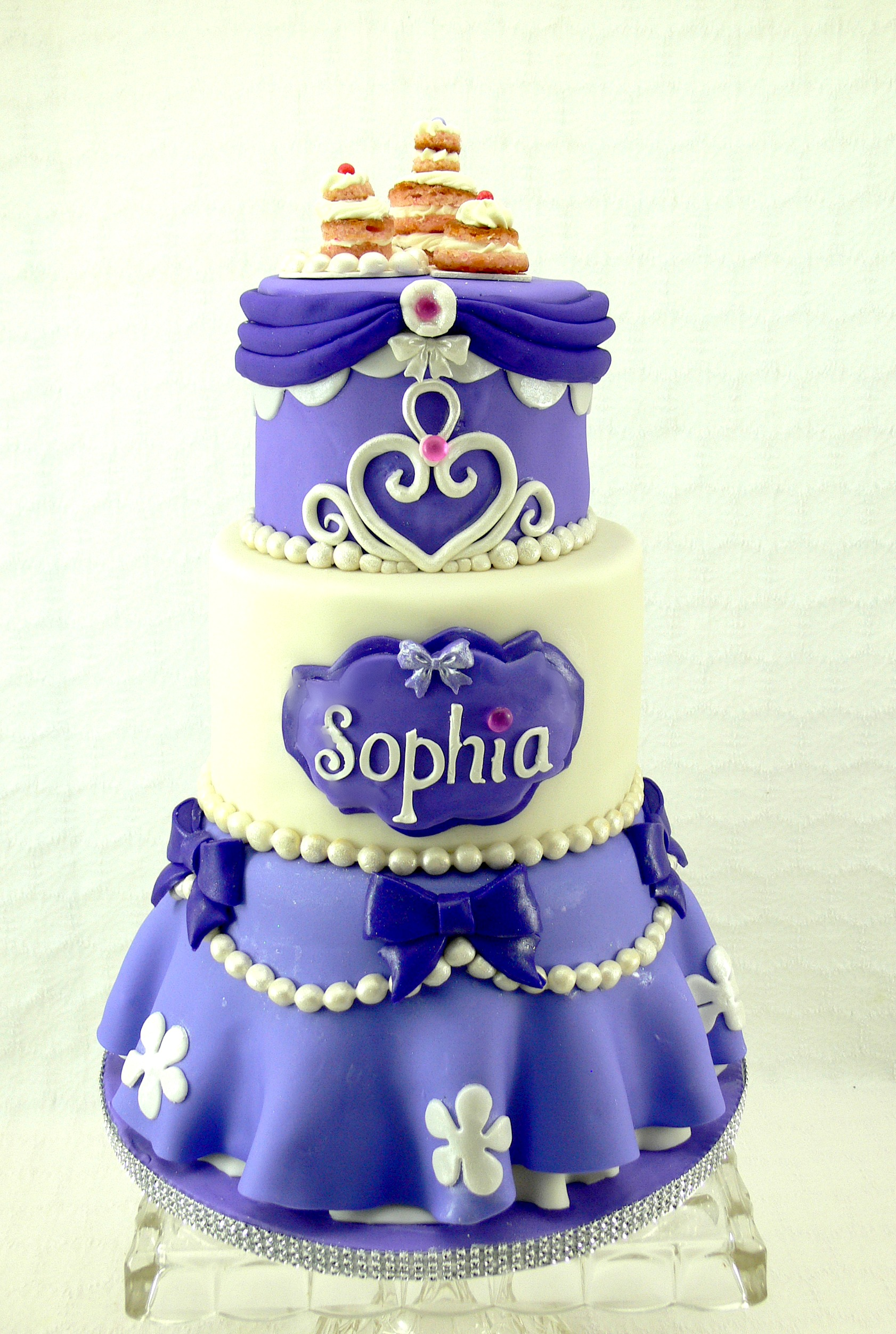 Sophia's first birthday cake purple princess cake.jpg