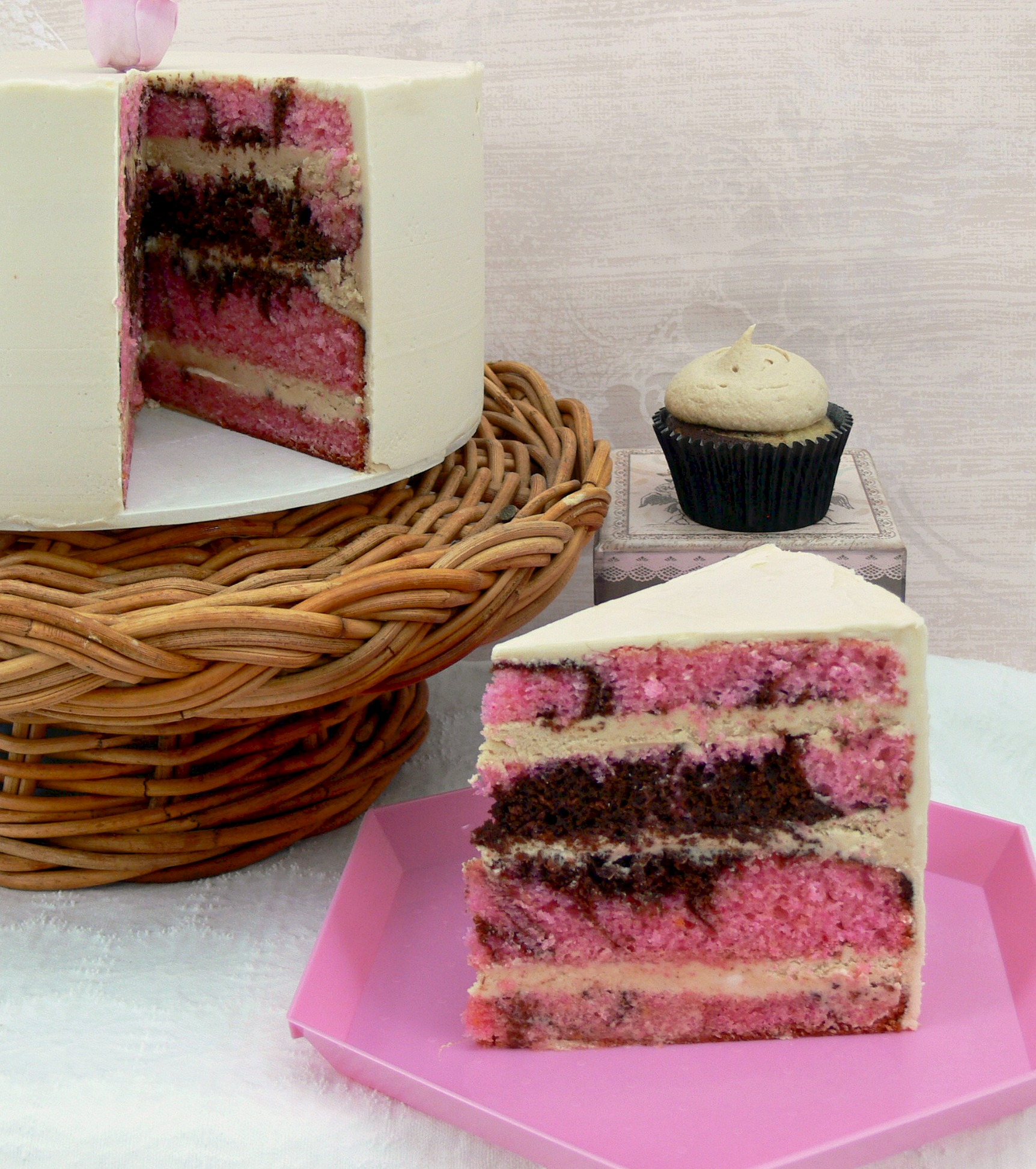 Cut Cake Chocolate and Pink almond marble cake.jpg