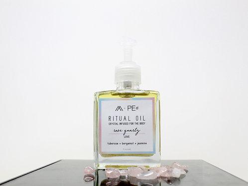 ritual oil: rose quartz