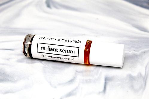 radiant under-eye serum