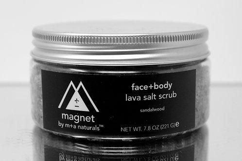 lava salt scrub