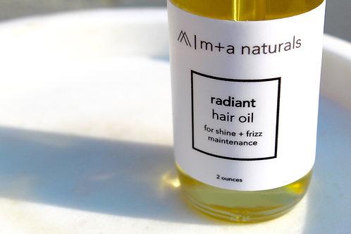 radiant hair oil