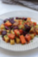 Dried Shrimp Stir Fry Tri Color Sweet Potatoes - tmcooksyourelax.com