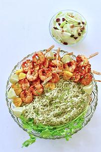Grilled Prawns with Cilantro Butter Rice -Annie Xavier Kitchen Volume 5 - www.anniexavierkitchen.com