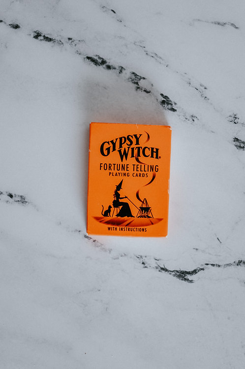 Vintage Gypsy Witch Fortune Telling Playing Cards