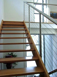 timber and open rise staircase in sydney image