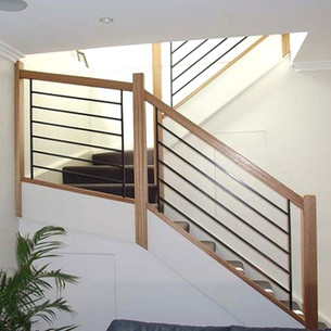 Sydney staircase design made from timber, steel and glass balustrades by Budget Stairs
