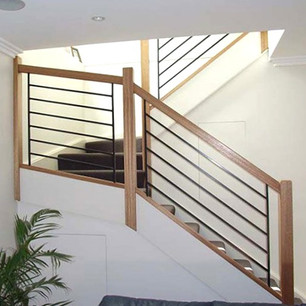 Sydney staircase design made from timber and steel balustrades by Budget Stairs