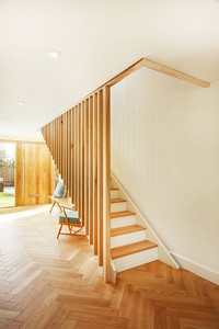 Floor to ceiling timber design image