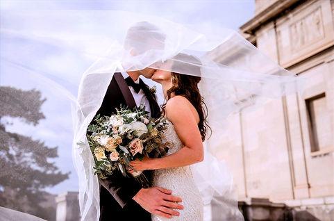 Cartgena Bride and Groom Kiss
