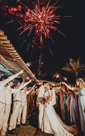 Cartagena Wedding Fireworks