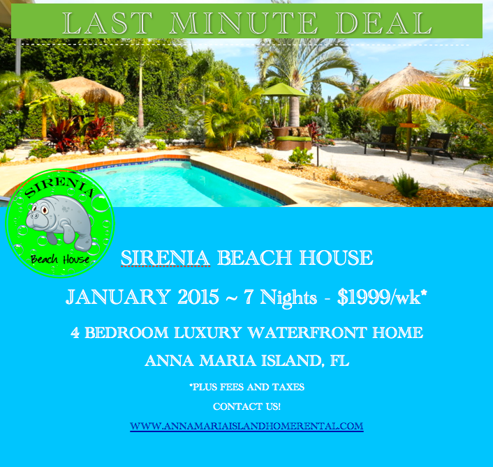 Last minute deal Sirenia Beach House