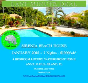 Last minute deal Sirenia Beach House