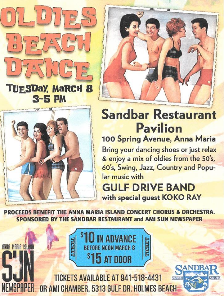Oldies Beach Dance Poster