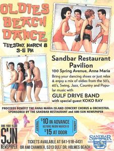 Oldies Beach Dance Poster