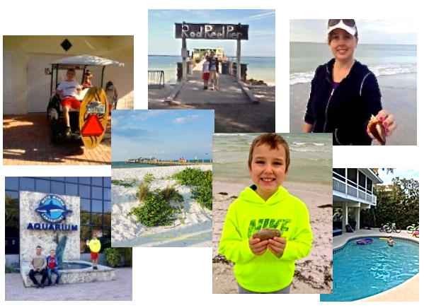 Collage of Anna Maria Island Home Rental Winner's Vacation