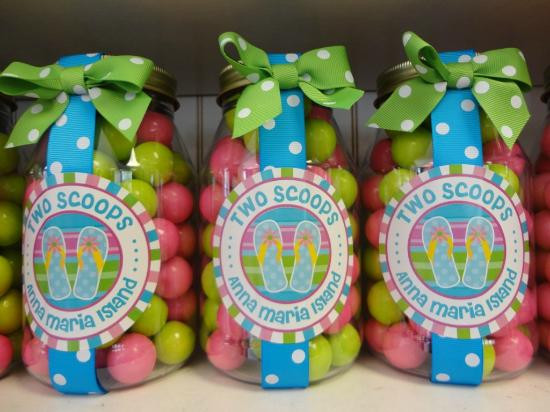 Two Scoops Ice Cream Shop Colourful Candy Jars