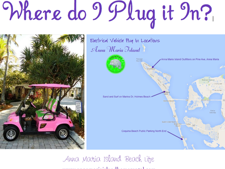 Electric Vehicle Plug In's on Anna Maria island, Florida