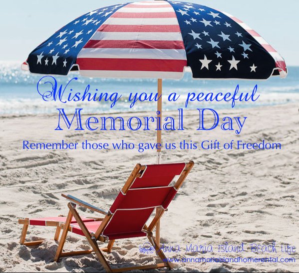 Memorial Day Quote by Anna Maria Island Beach Life Blog