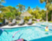 anna maria island vacation rentals - sirenia beach house backyard