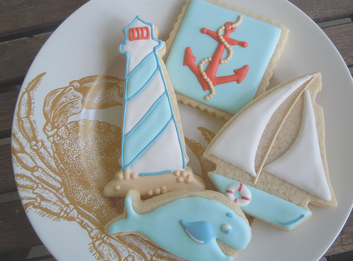 nautical coastal cookies