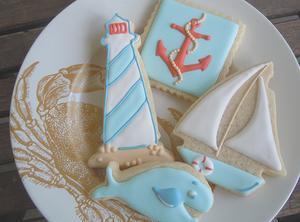 nautical coastal cookies