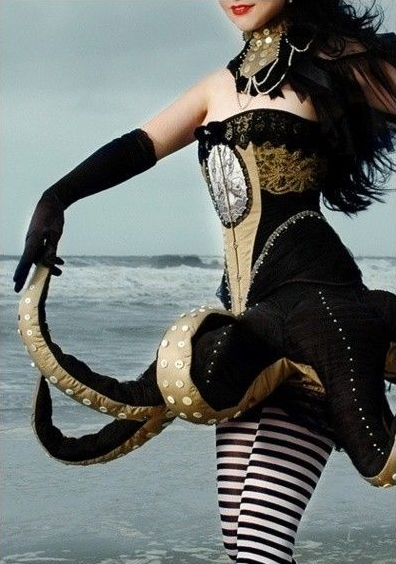 Sea Creature Steam Punk Dress for Halloween