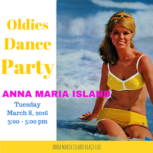 Oldies Beach Dance Party Poster