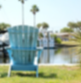 Blue Beach Chairs overlooking waterfront Anna Maria Island