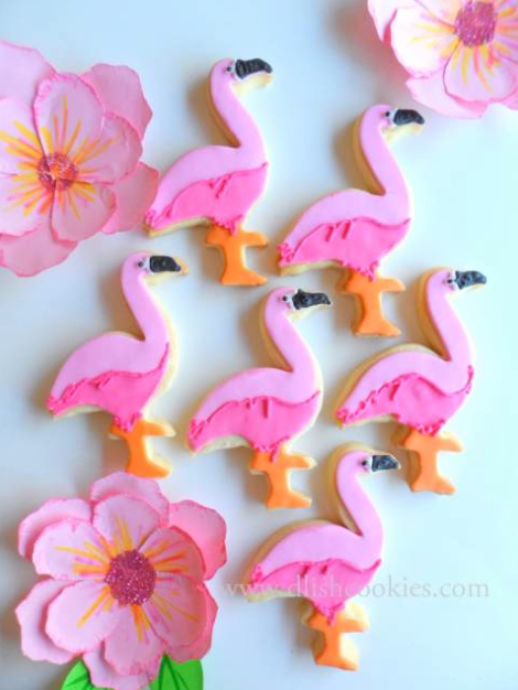flamingo coastal christmas cookies