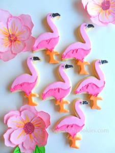 flamingo coastal christmas cookies