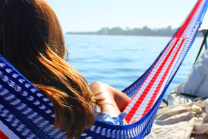 Girl sitting in American Hammock