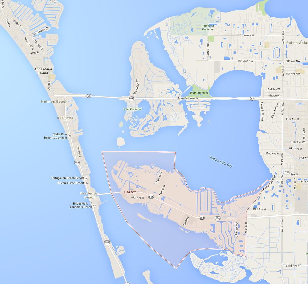Cortez, Florida Google Map