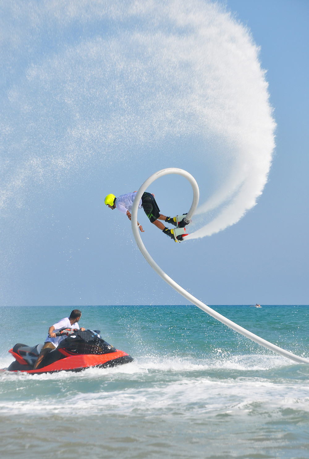 Man Flyboarding on Vacation