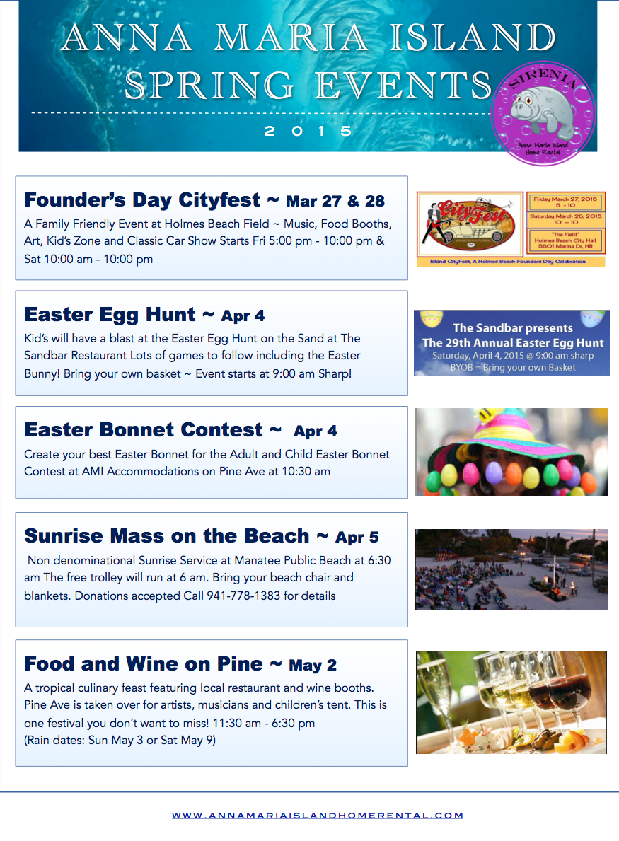Anna Maria Island Beach Life Blog - Spring Events 2015