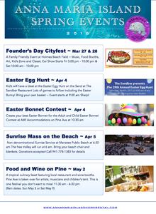 Anna Maria Island Beach Life Blog - Spring Events 2015