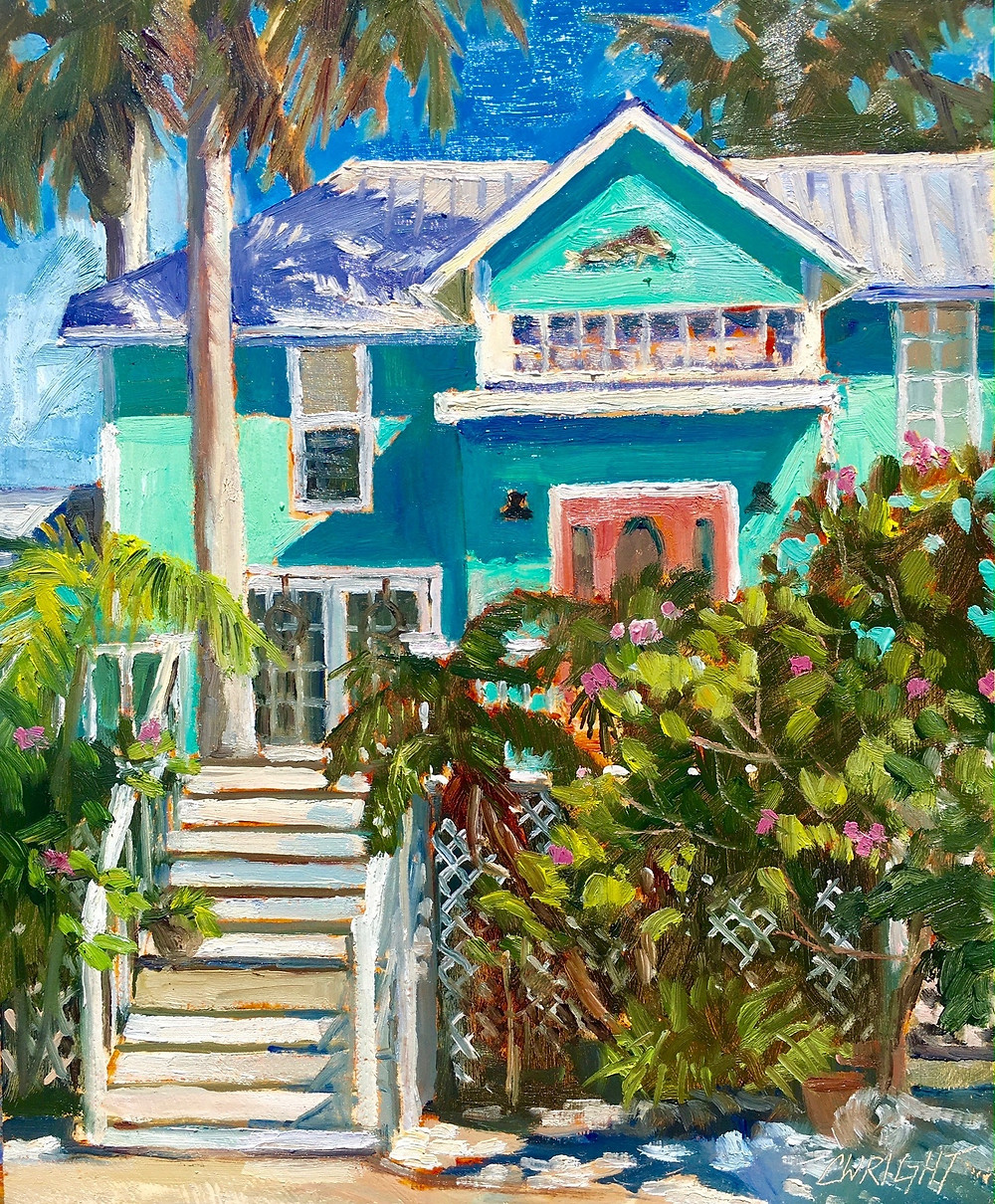 Custom Home Oil Painting by Cory Wright