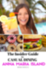 girl with tropical cocktail, colourful donuts, cheeseburger
