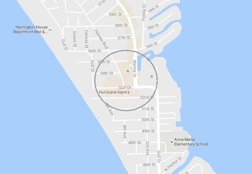 Map of Shops of Holmes Beach, Florida - Anna Maria Island Home Rental