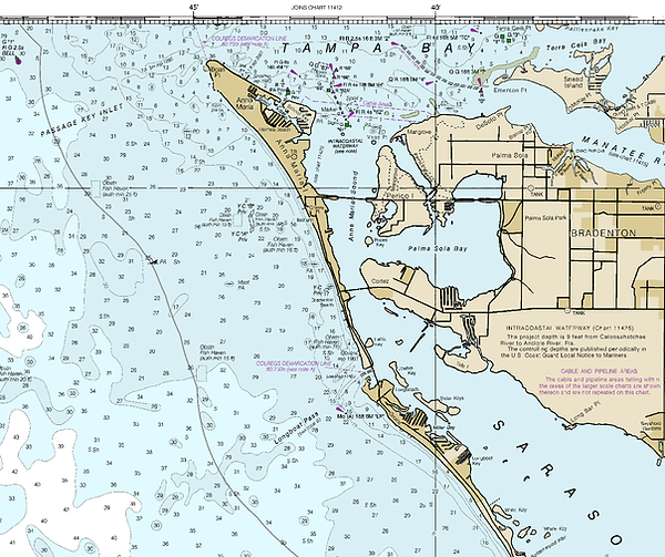 NOAA Nautical Chart of Anna Maria Island