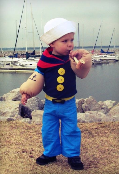 Boy Popeye Costume