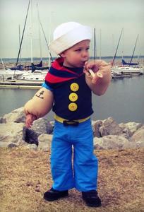 Boy Popeye Costume