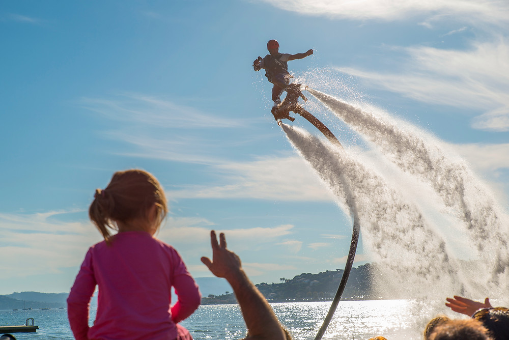 Flyboarding a new water sport
