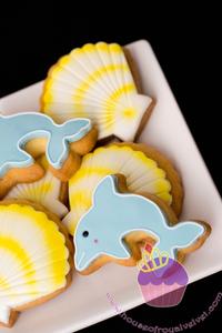 dolphin coastal christmas cookies