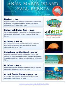 Anna Maria Island Beach Life Fall Events for 2015